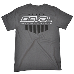 DeVol Patriot Tee - Smoke Gray